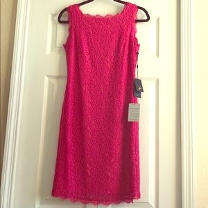 Adrianna Papell Sleeveless Lace Dress Size 6